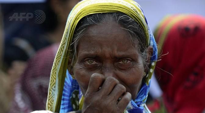 Sweatshop workers commemorate first anniversary of Rana Plaza collapse in Dhaka, Bangladesh