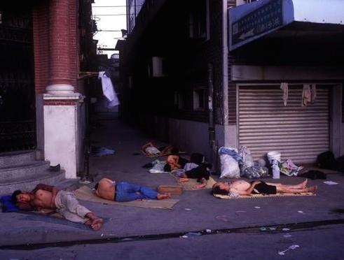 Homeless in Shanghai, China