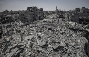 Gaza City rubble July 26 2014