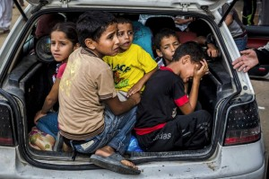 Gazan refugees July 23 2014