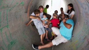 Israelis cowering July 15 2014