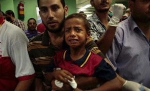 Gaza- crying boy July 28 2014