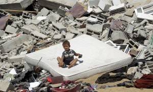 Gaza--returning home to rubble August 7 2014