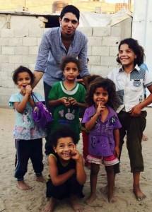 Gazan children & Muhammed M.K.   Sept 27 2014