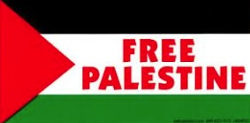 Free Palestine flag Dec 12 2014