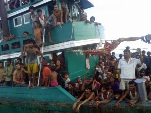 Rohingya immigrants in Andaman Sea (Christophe Archambault:AFP:Getty Images) May 14 2015