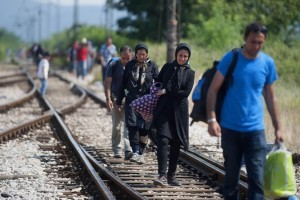 Macedonian-Greek border (Robert Atanasovski:AFP:Getty) July 13 2015