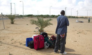 African refugee released from Helot (Mehahem Kahana:AFP:Getty Images) August 25 2015