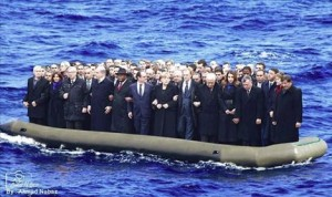EU on a dinghy