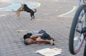 Filipino homeless kids (Jay Directo:AFP:Getty Images) Nov 12 2015