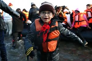 Refugee boy wih glasses (Carl Court:Getty Images) Nov 18 2015