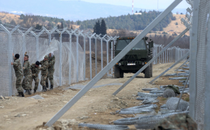 New Macedonia-Greece wall ( EPA:NAKE BATEV) Feb 11 2016