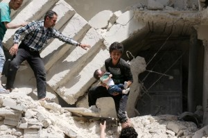 A;eppo:Assad bombing (Ameer Alhalbi:AFP:Getty Images) Apr 29 2016