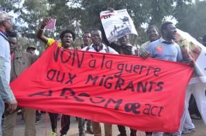 No Borders Morocco protest :Apr 14 2016