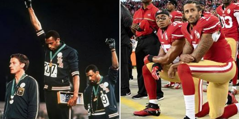Image result for tommie smith and colin kaepernick