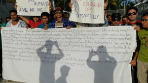 Protest for Rohingya at Manus Island detention center Oct 19---Oct 21 2016