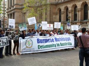 Sydney Australia protest of Rohingya Oct 21 2016