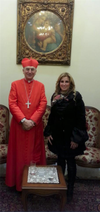Kinana Allouche & Cardinal Mario Denarii (Jan 21 2017)