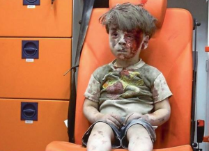 5-year-old Omran Daqneesh Sept 2016