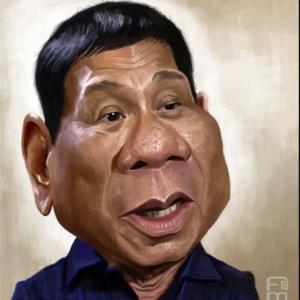 Caricature of Duterte from Imgrum