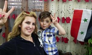 Assadist journalist Kinana Alloush with Omran