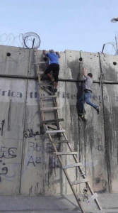 Climbing apartheid wall (June 13 2017)