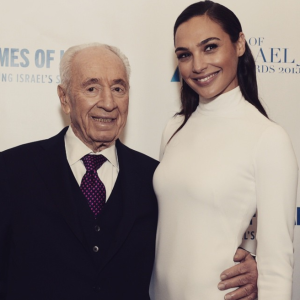 Gal Gadot and Shimon Peres Feb 2015