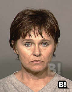 Mary Scully July 24 2000 mugshot for riot and unlawful assembly