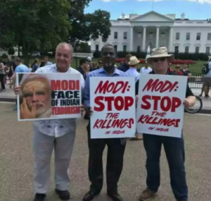 Modi- Stop the Killings protest at WH June 28 2017