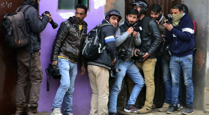Tribute to photojournalists in Kashmir
