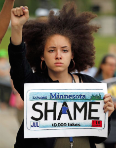 Shame on Minnesota protester (REUTERS:Eric Miller) June 20 2017
