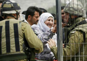 Palestinian woman with IDF July 30 2017