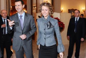 Bashar & Asma Assad 2010 (MIGUEL MEDINA:AFP:GETTY IMAGES) Aug 7 2017