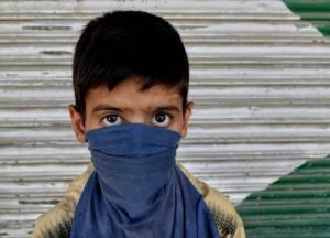 Masked boy protester (Bilal Ahmad) Aug 18 2017