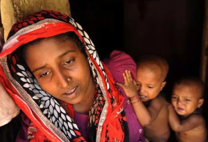 Rohingya mother and children Sept 14 2017