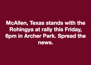 McAllen stands with Rohingya memne