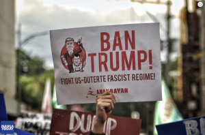 Anti-Trum & Duterte banner (Manila Today) Nov 14 2017