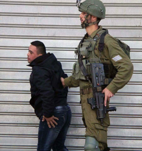 Israeli soldier detaining Palestinian with Downs Syndrome Dec 13 2017