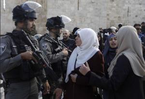 Palestinians protesting Trump decision about Jerusalem at Al Quds (DOAM) Dec 7 2017