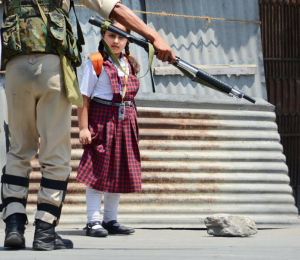 Kashmiri girl and soldier (from Sabzar Ahmad Mir) Jan 21 2018