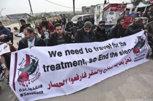 Disabled Gazans protest (Mohammed Asad:Middle East Monitor) Feb 9 2018