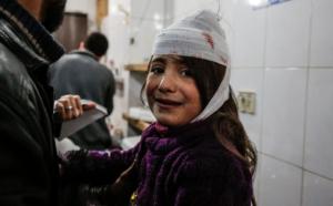 Injured girl in E. Ghouta (the Telegraph) Feb 21 2018
