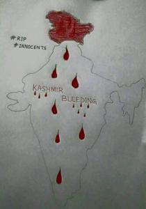 Kashmir bleeding drawing (Nazir Ahmad) Mar 5 2018