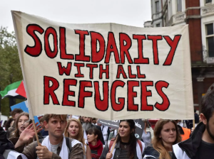 UK Solidarity with refugees rally Mar 30 2018