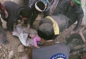 White Helmets rescuing baby White Helmets Mar 5 2018