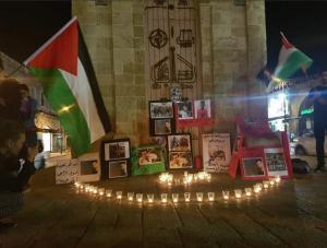 Memorial ceremony in Jaffa for Gaza (Adi Shosberger) Apr 27 2018