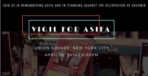 NYC vigil for Asifa Apr 17 2018