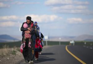 Refugees arrive in Turkey (Photograph- Erdem Sahin:EPA) Apr 28 2018