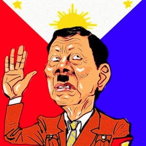 Rodrigo Duterte caricature by takeshioekaki April 6 2018