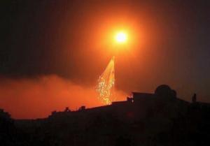 White phosophorous in Raqqa June 2017